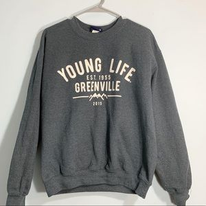Gray Younglife sweatshirt size medium